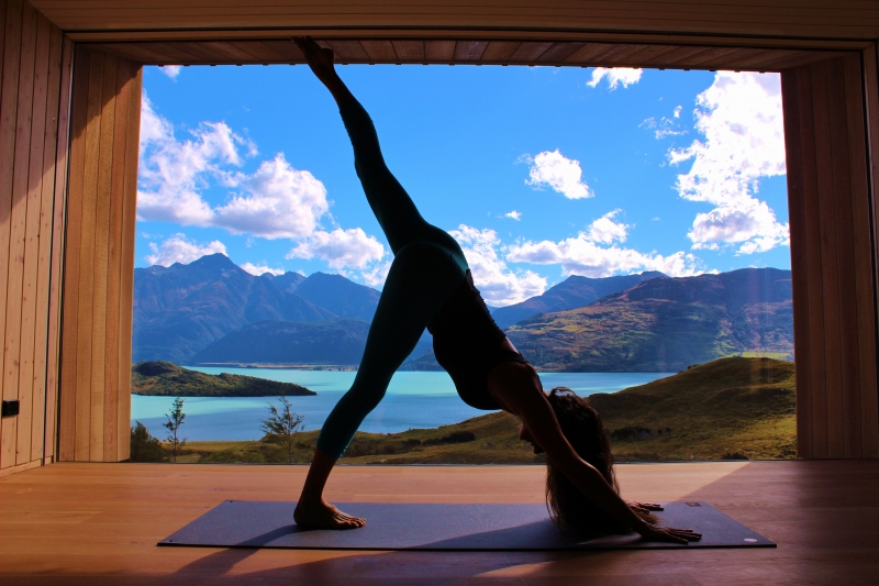 Nianna Bray. Yoga teacher, in the Aro Ha room - Picture by Sara Greig
