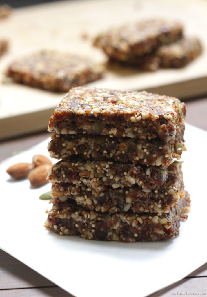 Raw Muesli Bars: So easy, delicious and nutritious - GF, DF, sugar free! Perfect as a breakfast bar, 3pm pick-me-up or pre-gym snack.