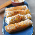 Baked Dumpling Rolls with Ginger Chilli Sauce