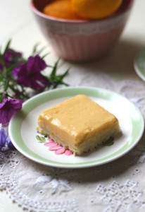 Healthier Lemon Curd Slice: A creamy, tangy and sweet slice. It contains no refined sugar, minimal or no butter (up to you) and has a gluten-free almond crust base. Plus it requires no baking. www.isleofflora.com