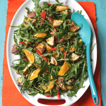 Sweet potato, rocket & lentil salad