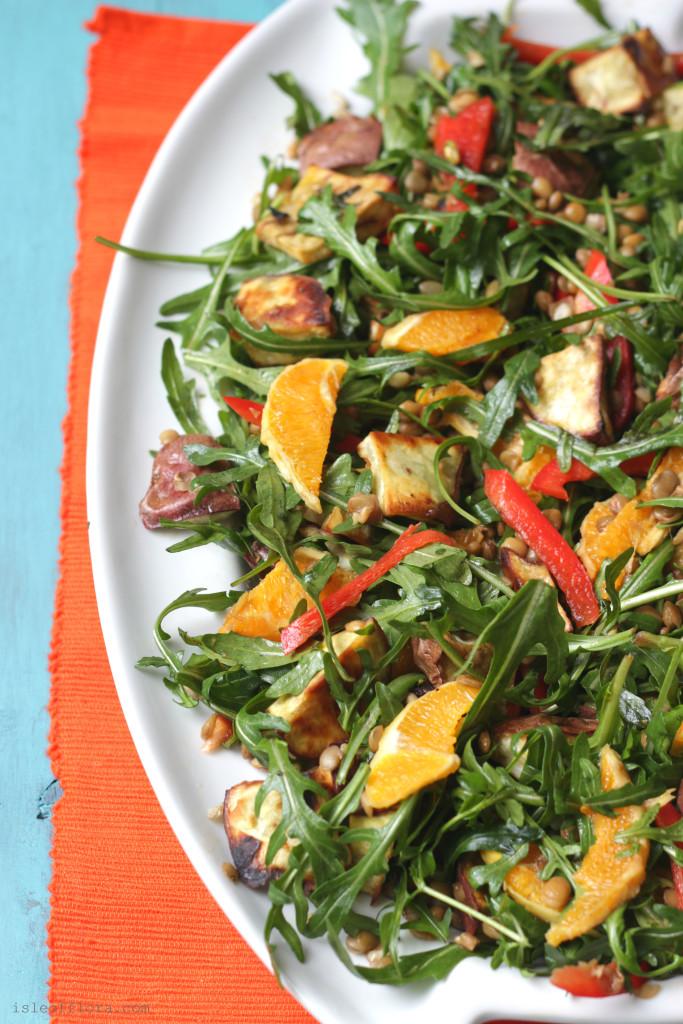 Sweet Potato Rocket Lentil Salad Naturally Gluten Free This Balanced Salad