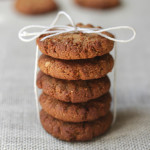Four ingredient ginger biscuits: It doesn't get much simpler than these four ingredient ginger biscuits / cookies. They are quick and easy to whip together and have the added bonus that they can be eaten raw or baked for a crunchy biscuit / cookie. They are naturally gluten dairy and egg free and make a great treat! Click through for recipe. www.isleofflora.com