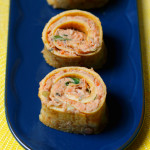 Easy Gluten-free Salmon Sushi Roll: These make a great light lunch, snack or appetizer. Full of flavour they will leave your taste buds and tummy satisfied. They use egg instead of seaweed and are rice free so they are super easy to roll together. Naturally gluten and dairy free. Click through to get recipe. www.isleofflora.com