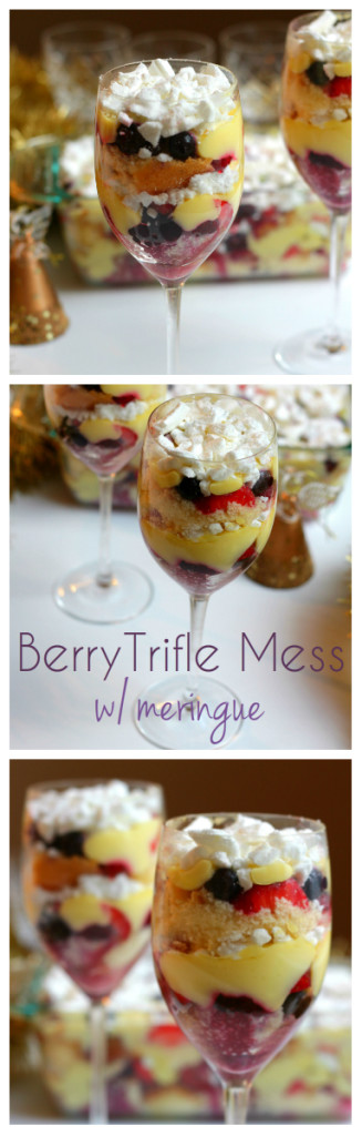 Berry Trifle Mess: This Trifle has meringue added to the mix and the results are out of this world! Trifle is one of the most popular Christmas desserts, and it's not hard to see why. Layers of sponge, fruit and custard with a hint of alcohol really makes a great combination. Can be made gluten and dairy free! Click through for recipe. www.isleofflora.com