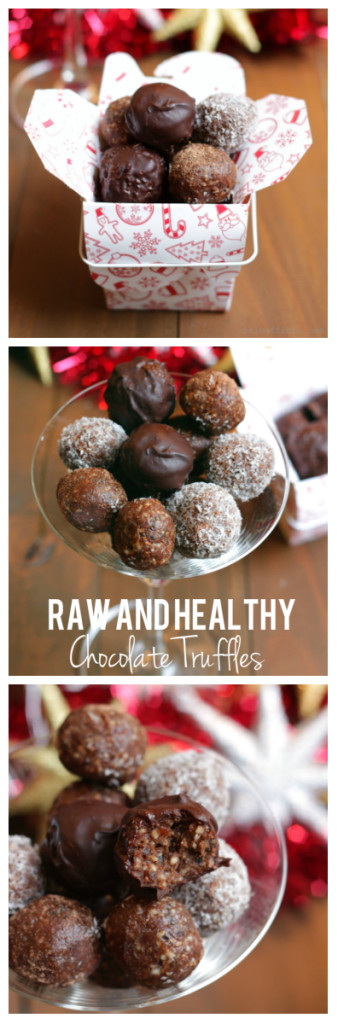 These Raw and Healthy Chocolate Truffles are packed full of goodness yet are a decadent treat. They are naturally gluten-free and dairy free. Choose from four chocolate truffle options . Package them up and give them away as gifts. Click through for recipe. www.isleofflora.com